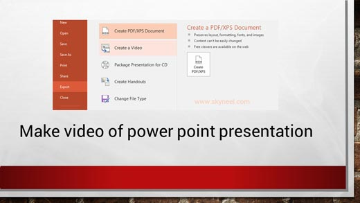 How to make video of power point presentation