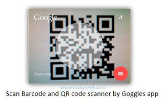 Scan Barcode and QR code scanner by Goggles app