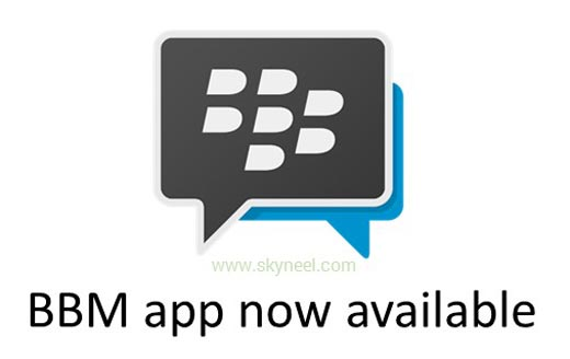 BBM app Now available for iPhone and Android