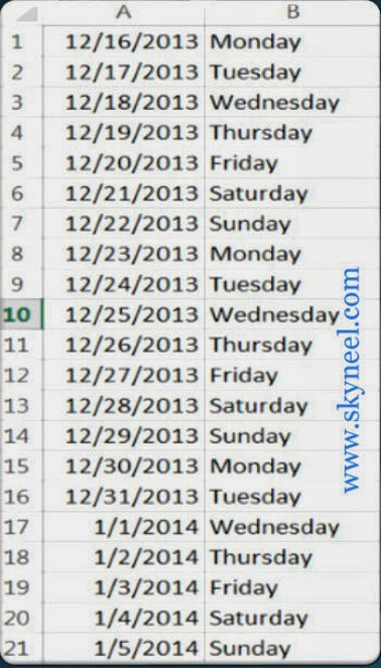 Conditional-Formatting-Highlighted-Weekend-Dates-in-Excel