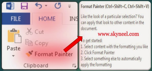 Format-Painter-in-MS-Word-2013