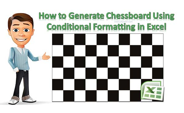 How to generate chess board on excel