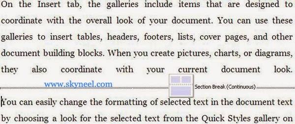 Continuous-Section-Break-in-Ms-Word
