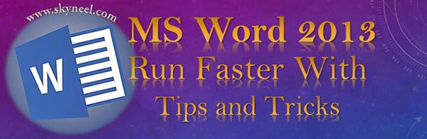 Microsoft word tips and tricks