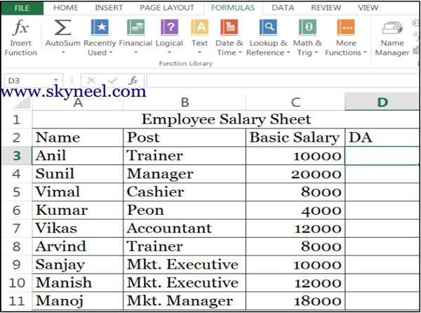 salary calculation excel