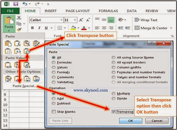 How-To-Transpose-Data-in-MS-Excel-2013