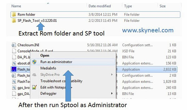 Extract and open the SP Tool