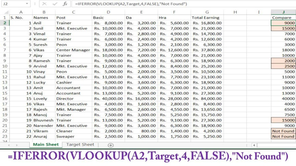 VLOOKUP-TO-COMPARE-VALUES-IN-ANOTHER-WORKSHEET