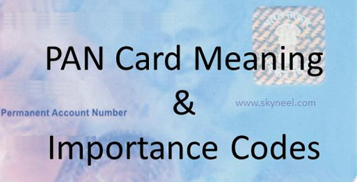 PAN Card Meaning and Importance Codes