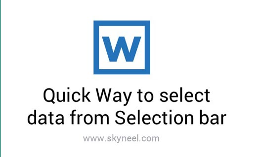 Quick Way to select data from Selection bar