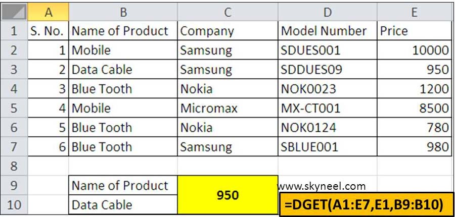 dget-datatabase-function-in-ms-excel
