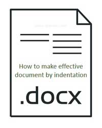 effective document by indentation