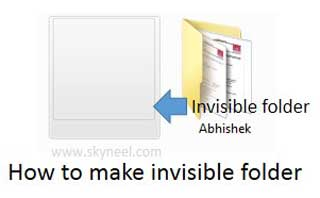 how to make your folder invisible