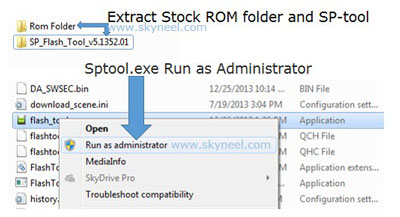 Run Sptool.exe as Administrator for Cubot X12