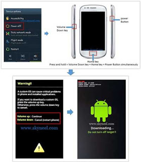 Go to Downloading mode on Samsung Galaxy Note 2 SHV E250K