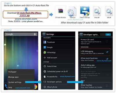 Enable USB debugging mode on Samsung Galaxy Note 2 GT N7102