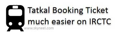 Tatkal-Booking-Ticket-much-easier-on-IRCTC
