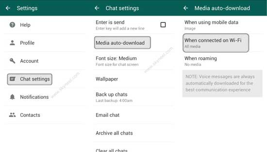 stop auto download and save photos, videos on WhatsApp