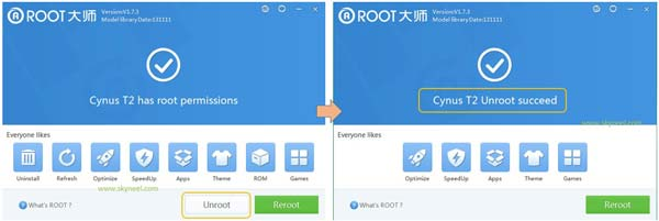 Unroot-from-vroot
