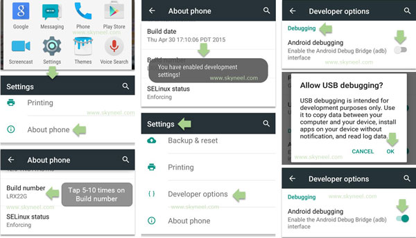 Enable-developer-options-and-debugging-on-Android-Device