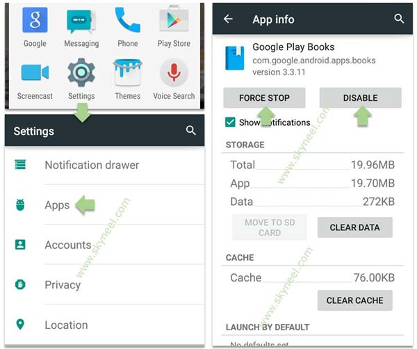 android virtual device remove app