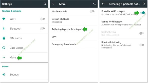 How to use Android phone as a WiFi hotspot