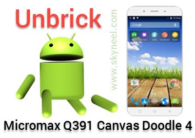 unbrick Micromax Q391 Canvas Doodle 4 Stock Rom V1
