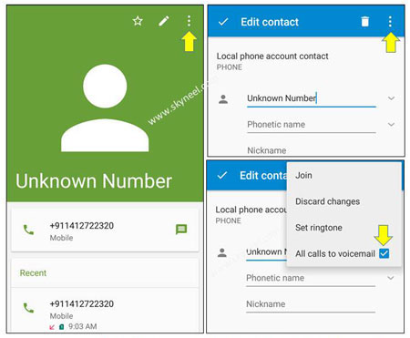 block unwanted phone calls and messages via voicemail feature