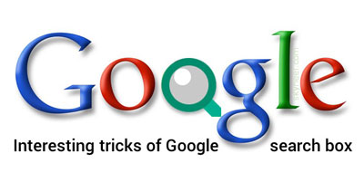 Interesting tricks of Google search box