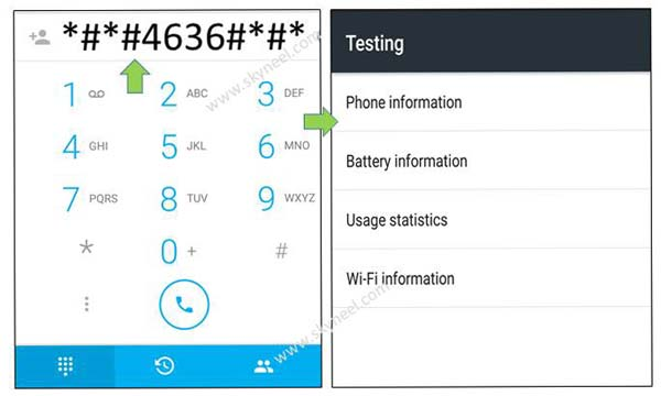 Testing Android phone, battery, Wi-Fi information and usages statistics