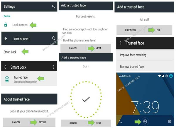 How to use Facelock feature on Android Lollipop