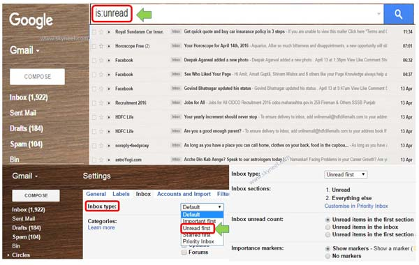 How to find all unread emails in Gmail account
