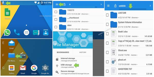 How to use an external storage device with Android phone