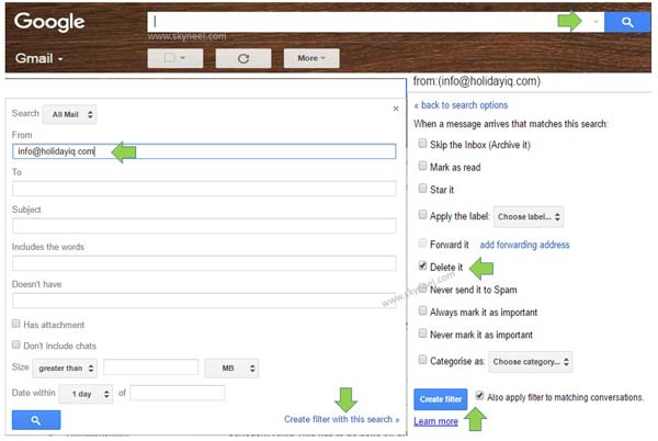Quickly delete particular email address in Gmail