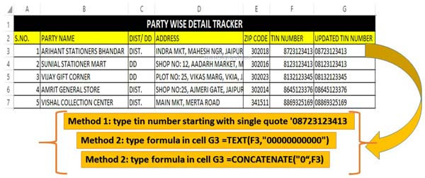 Add or insert leading zeros to text or numbers in Excel