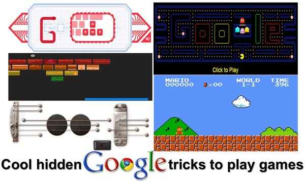 Cool hidden Google tricks to play games