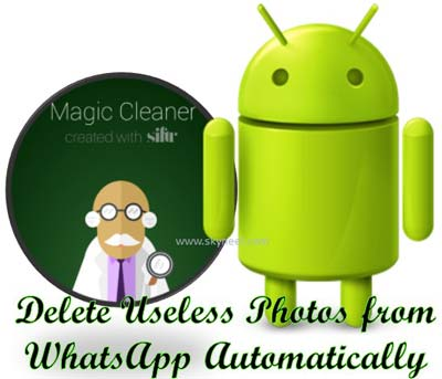 Delete Useless Photos from WhatsApp Automatically