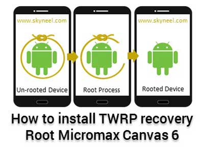 Guide to install TWRP recovery and root Micromax Canvas 6