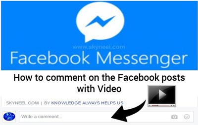 How to comment on the Facebook posts with Video