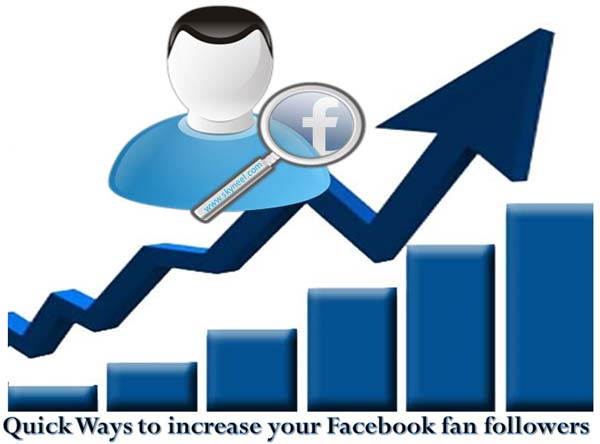 Quick Ways to increase your Facebook fan followers