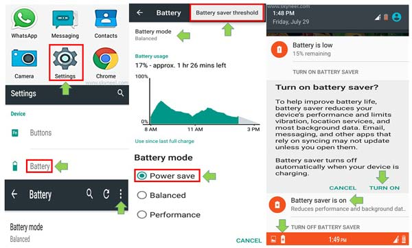 How to enable or use battery saver mode Android phone
