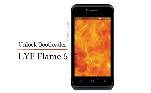 How to unlock bootloader LYF Flame 6