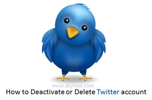 How to Deactivate or Delete Twitter account