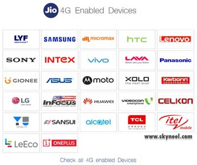 jio supported devices