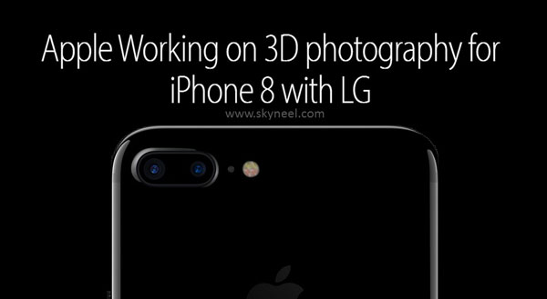 Apple Working on 3D photography for iPhone 8 with LG