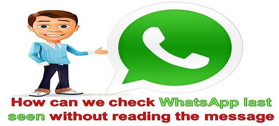 How can we check WhatsApp last seen without reading the message