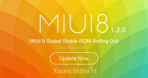 How to update Xiaomi Redmi 1s MIUI 8.1.2.0 Global Stable Rom