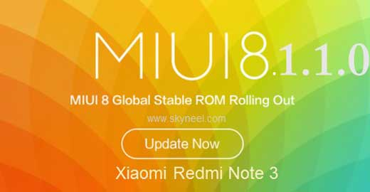 New update Xiaomi Redmi Note 3 Qualcomm Global MIUI V8 1 1 0 Rom