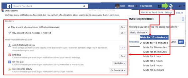How Do I Adjust or Turnoff Facebook Notifications