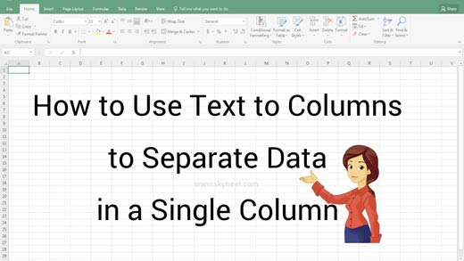 How to Use Text to Columns to Separate Data in a Single Column